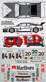 TABU DESIGN 1/24 BMW M1 '79-'80 1/24 MARLOBORO CIGARETTE DECAL