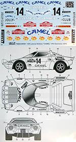 TABU DESIGN 1/24 LANCIA STRATOS CAMEL SAN REMO RALLY 1978