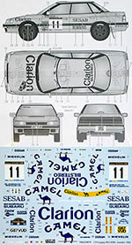 TABU DESIGN 1/24 SUBARU LEGACY RS CAMEL SWEDEN 1992 RALLY
