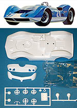 TAMIYA 1/24 SLOT CAR REPLACEMENT BODY McLAREN M1 ELVA