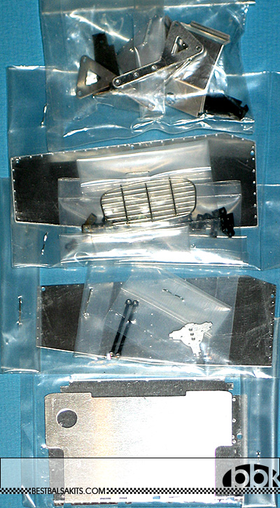 TAMIYA 1/12 CATERHAM BDR 4 * ALU PARTS BAGS COMPLETE