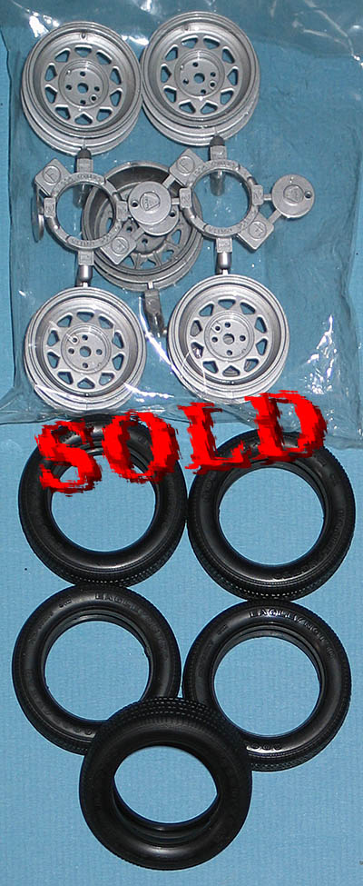 TAMIYA 1/12 5 * WHEELS + TIRES CATERHAM BDR
