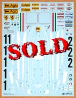 TAMIYA 1/12 TAMIYA 1/12 FERRARI 312T REPLACEMENT DECAL