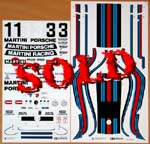 TAMIYA 1/12 TAMIYA 1/12 PORSCHE 935 MARTINI REPLACEMENT DECAL