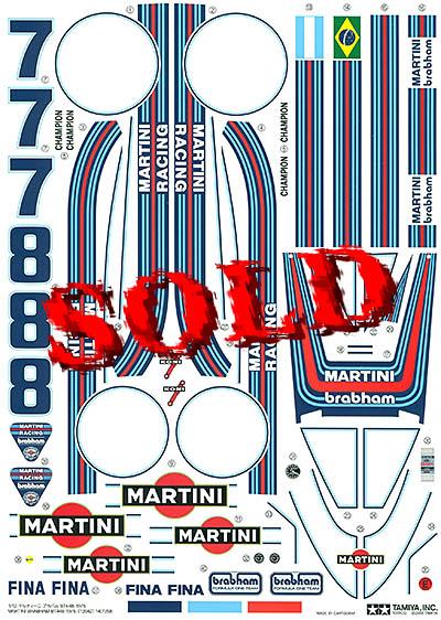 TAMIYA 1/12 BRABHAM BT44B - 2009 ISSUE