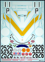 TAMIYA 1/12 TAMIYA REPLACEMENT DECAL 1/12 LOLA T70 MKIII