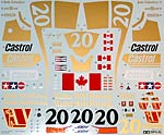 TAMIYA 1/12 TAMIYA REPLACEMENT DECAL 1/12 WOLF WR1