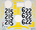 TAMIYA 1/12 TAMIYA ORIGINAL REPLACEMENT DECAL 1/12 LOTUS 49