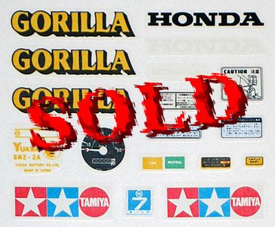 TAMIYA 1/6 REPLACEMENT DECAL 1/6 HONDA GORILLA 16012