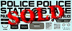 TAMIYA 1/6 REPLACE DECAL HD HARLEY DAVIDSON FLH1200 POLICE