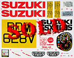 TAMIYA 1/6 REPLACEMENT DECAL 1/6 SUZUKI KATANA