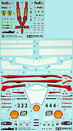TAMIYA 1/20 FERRARI F1-2000 REPLACEMENT DECAL 20048