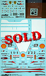 TAMIYA 1/20 FERRARI F2001 ORIGINAL DECAL