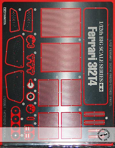 TAMIYA 1/12 TAMIYA PE DETAIL UP 1/12 FERRARI 312T4