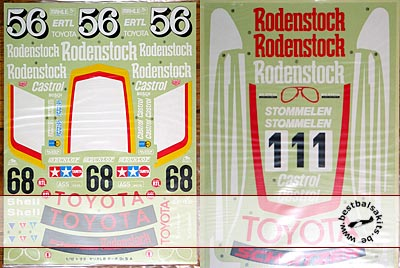 TAMIYA 1/12 TOYOTA CELICA Gr. 5 REPLACEMENT DECAL