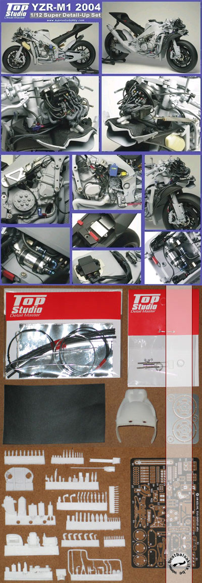 TOP STUDIO 1/12 YAMAHA YZR-M1 2004 super detail grade up set
