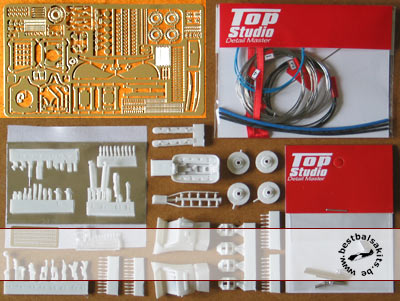 TOP STUDIO 1/20 FULL DETAIL GRADE UP TAMIYA 1/20 FERRARI F1-2000