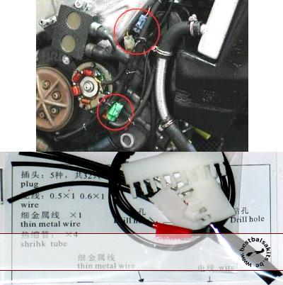 TOP STUDIO 1/12 Moto GP Electronic Plugs