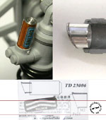 TOP STUDIO 1/12 05' YZR M1 Reservoir Tank and Exhaust Pipe