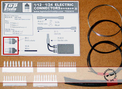 TOP STUDIO 1/12 to 1/24 ELECTRIC CONNECTORS TYPE A 1/12 to 1/24 DETAIL