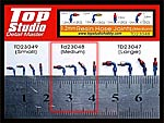 TOP STUDIO 1/8 - 1/20 RESIN A/N FITTINGS HOSE JOINTS MEDIUM 40pc TAMIYA