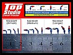 TOP STUDIO 1/16 - 1/24 RESIN A/N FITTINGS HOSE JOINTS SMALL 40pc TAMIYA