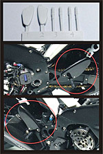 TOP STUDIO 1/12 RESIN FOOT PEGS for TAMIYA YZR-M1 MOTO GP BIKES