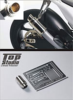 TOP STUDIO 1/12 1/12 06'-10' YAMAHA YZR-M1 EXHAUST PIPE for TAMIYA