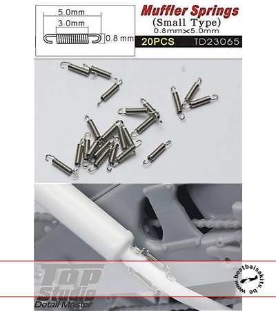 TOP STUDIO 1/20 1/24 20pc SMALL METAL MUFFLER SPRINGS