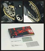TOP STUDIO 1/12 1/12 GOLD CHAIN PE SPROCKETS for TAMIYA YZR-M1 '09
