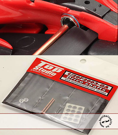 TOP STUDIO 1/20 DRIVE SHAFTS DETAIL FUJIMI 1/20 FERRARI F2003-G3