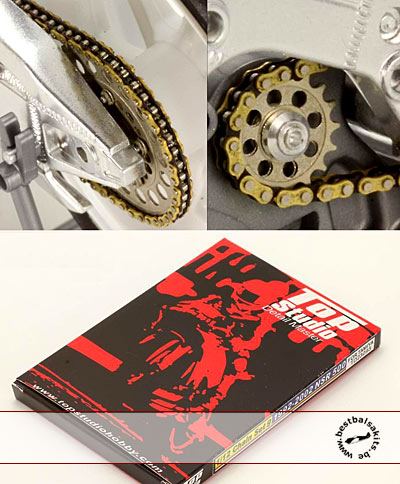 TOP STUDIO 1/12 METAL CHAIN + PE GEAR TAMIYA HONDA NSR 500