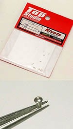 TOP STUDIO NA 0.7mm TAPERED HEAD ALU RIVET n HOLE 20PCs