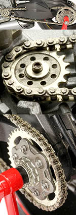 TOP STUDIO 1/12 METAL CHAIN + GEAR SPROCKETS DUCATI PANIGALE 1199
