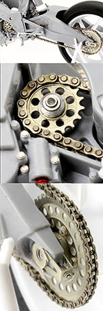 TOP STUDIO 1/12 METAL CHAIN + GEAR + SPROCKETS HONDA NSR 500 1989