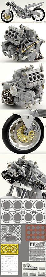 TOP STUDIO 1/12 HONDA NSR500 '89 METAL & PHOTO ETCH FULL DETAIL UP