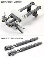 TOP STUDIO 1/12 HONDA NSR500 1989 METAL & RESIN FRONT FORK SET