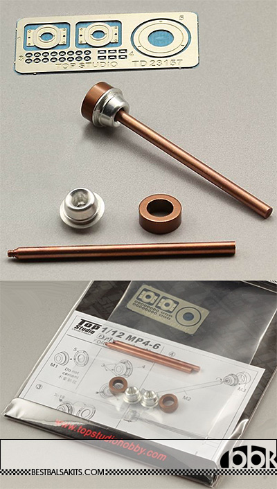 TOP STUDIO 1/12 McLAREN MP4/6 DRIVE SHAFTS for TAMIYA
