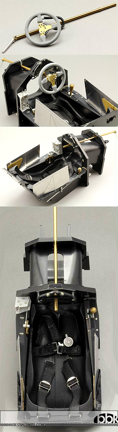 TOP STUDIO 1/12 McLAREN MP4/6 COCKPIT DETAIL UP for TAMIYA