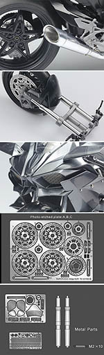 TOP STUDIO 1/12 KAWASAKI NINJA H2R DETAIL UP SET for 1/12 TAMIYA
