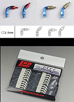 TOP STUDIO 1/12-1/24 2.5mm RESIN A/N FITTING HOSE CONNECTOR SET
