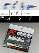 TOP STUDIO 1/12-1/24 1.8mm RESIN A/N FITTING CONNECTOR SET