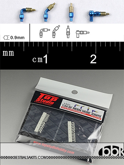 TOP STUDIO 1/12-1/24 0.9mm RESIN A/N FITTING CONNECTOR TYPE B
