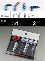 TOP STUDIO 1/12-1/24 1.1mm RESIN A/N FITTING HOSE CONNECTOR SET