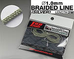 TOP STUDIO 1/12-1/24 1.0mm SILVER COLOURED BRAIDED LINE CLOTH 2m