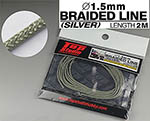 TOP STUDIO 1/12-1/24 1.5mm SILVER COLOURED BRAIDED LINE CLOTH 2m