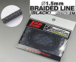 TOP STUDIO 1/12-1/24 1.5mm BLACK BRAIDED LINE CLOTH 2m