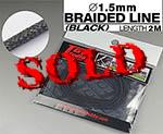 TOP STUDIO 1/12-1/24 1.5mm BLACK BRAIDED LINE CLOTH 2m
