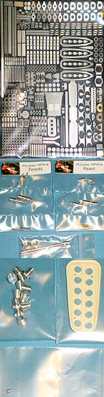 THUNDER VALLEY 1/12 McLAREN MP4/6 SENNA SUPER DETAIL UP SET + DAMPERS