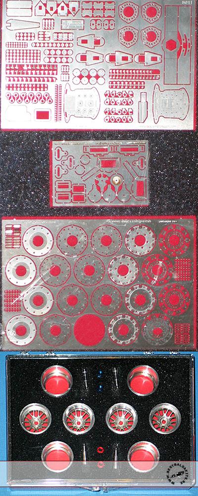 SCALE MOTORSPORTS 1/12 FERRARI F2002 machined ALU RIM SET